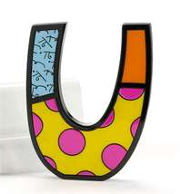 """6"""" Romero Britto Alphabet Letter Figurine Various Freestanding or Wall Mounted image 15"""