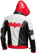 Batman Arkham Knight Red Hood Jason Todd Leather Jacket Cosplay Costume - $63.00