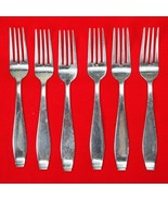 6X Dinner Forks International Silver Cirque 18/10 Stainless Flatware 7 1... - $33.66