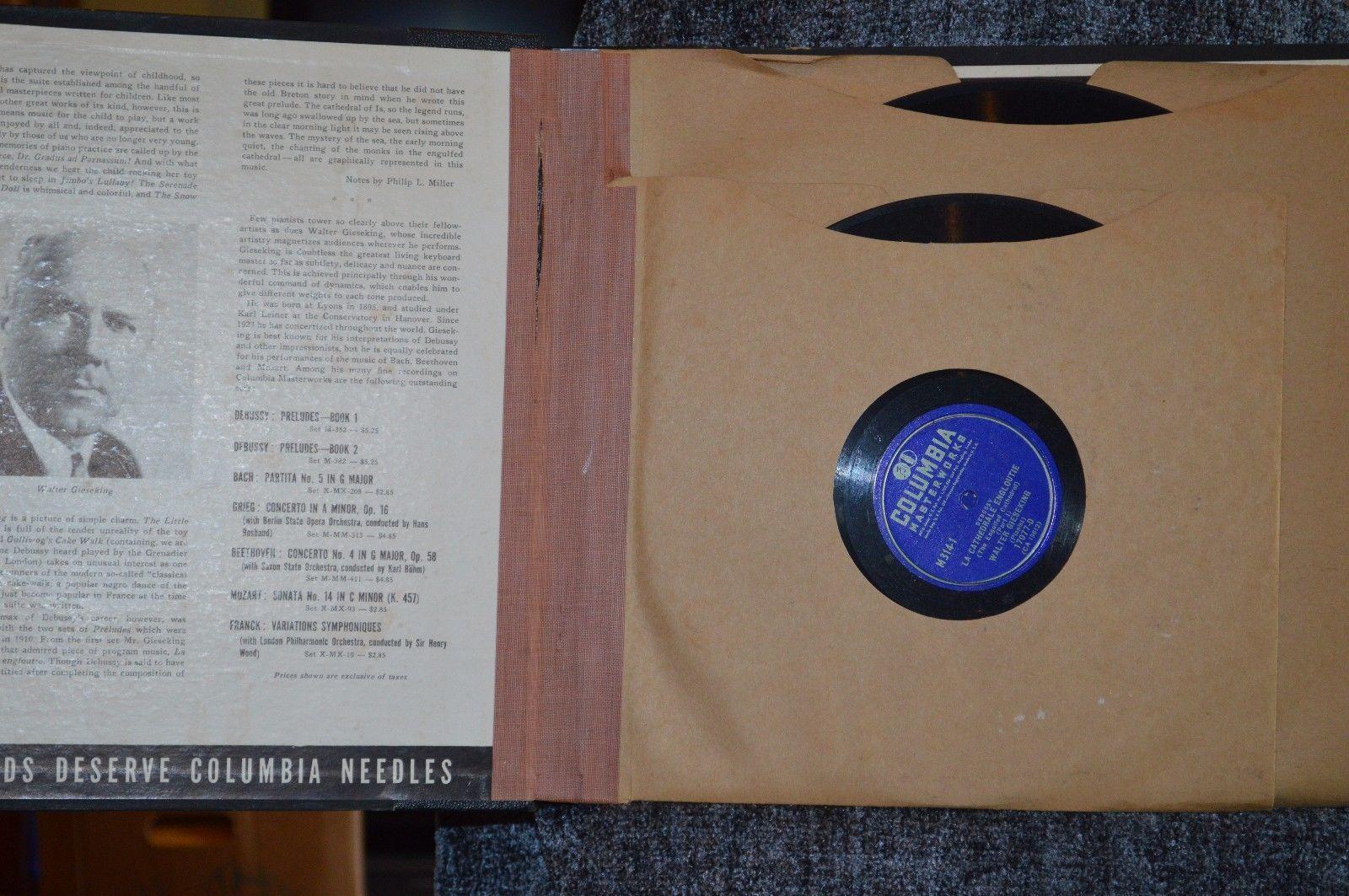 Columbia Debussy Masterworks Set M-314 - 1941 Original recording, vinyl