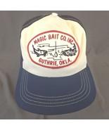 Magic Bait Co Inc Guthrie, Okla Snapback Trucker Hat Baseball Cap Patch ... - $38.58