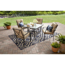 Small Patio Set Outdoor Dining Furniture 5 Piece Chairs Table Seating Cu... - $327.39