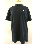 Psycho Bunny By Robert Godly Mens 7 Blue Pima Cotton Polo Rugby SS Shirt - $27.69