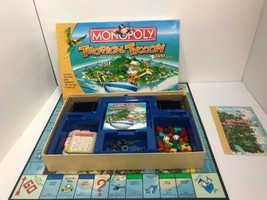 2008 Parker Brothers Monopoly Tropical Tycoon DVD Game Board Game - $11.87