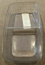 Longaberger Small Loaf Or Biscuit Basket Divided Plastic Protector Only - $10.84