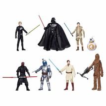 "Star Wars Saga 7 Pack 8 Figures 3.75"" Luke Darth Maul Vader Toy Fun Kids - $31.34"