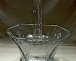 Heisey Etched Flowers Hexagon Crystal Basket  ca 1930 - €333,61 EUR
