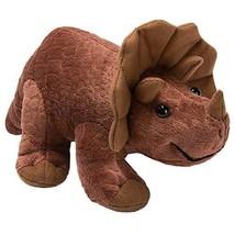 "Plush Triceratops Dinosaur Baby Stuffed Animal Toy Kids Gift Brown 11"" by HollyH - $8.90"