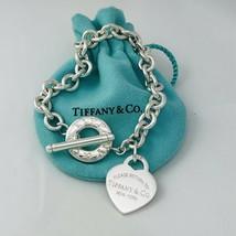 Please Return to Tiffany & CO Heart Tag Toggle Charm Bracelet - $389.00