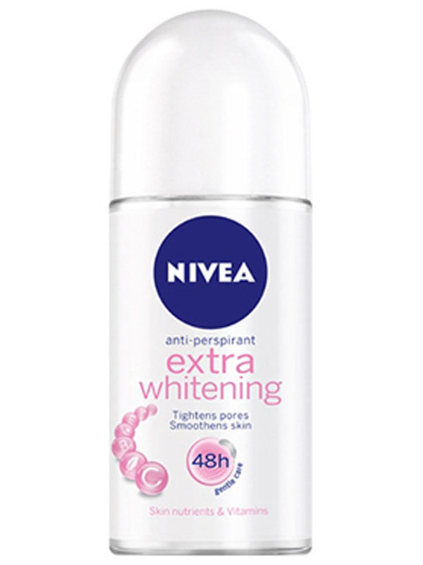 NIVEA EXTRA WHITENING ROLL ON 25 ML X 1 BOTTLE DEODORANT 48 HRS Q10 CELL REPAIR