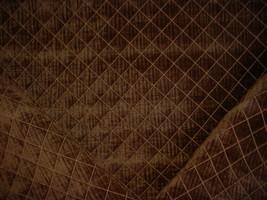 3-1/2Y ROBERT ALLEN ESPRESSO BROWN DIAMOND CHENILLE DRAPERY UPHOLSTERY F... - $44.35