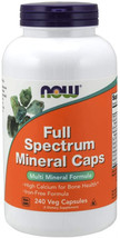 NOW Supplements, 240Ct Full Spectrum Mineral Caps, Multi Mineral Formula, 240 Ve - $23.99