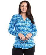 Plus size button down long sleeve top  - $15.99