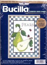 Bucilla Pear Delight Lady Bugs Fruit Linda Bird Cross Stitch Kit 42006 - $17.95