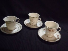 Set Of (3) Various Sales Display Gorham Fine China Coffee Cup Sets ~ Nos - $59.40