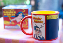 WONDER WOMAN Mug Heat Activated Transforming Coffee Mug UFO Rescue Diana Prince  image 7