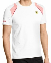Puma Men's Premium Rosso Corsa Ferrari Sf Shield T-Shirt Tee White 761468