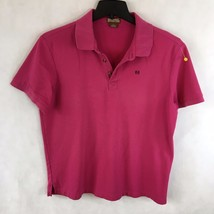 MICHAEL KORS Men's Hot Pink Short Sleeve Casual Polo Rugby Shirt Size La... - €16,05 EUR