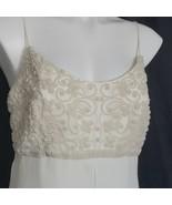 Faviana Wedding Gown Dress Empire Waist Pearl Bodice Spaghetti Straps Zips - $173.25