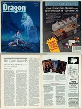 Dragon Magazine #174 Ravenloft Ghost Cover w/ Article on 1991 TSR AD&D Card Set - $14.84