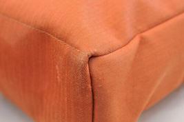 HERMES Acapulco Besace Coton Leather Orange Shoulder Bag Auth 5186 image 10