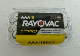 Rayovac Alkaline AAA Triple A Batteries 18 Pack Ultra Pro New in Reclosable Pack - $16.82
