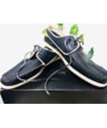 Lacoste Men's Navy Blue Yellow White Laces Sneakers Shoes Sz US 13 EU 47... - $151.46