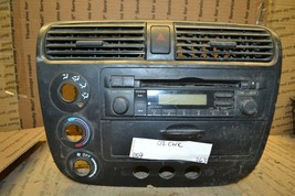 01-04 Honda Civic Radio Bezel Dash Trim Panel 263-11d7 - $56.09