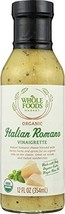 Whole Foods Market Organic Italian Romano Vinaigrette, 12 oz