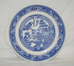 Vintage Blue Willow Ware Royal China Lugged Cup Cake Plate Royal Ironsto... - $19.79