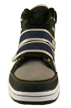 Public Royalty Black Blue Zaq High Top Denim Sneaker Shoes NIB image 2