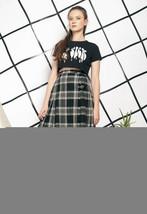 80s vintage plaid kilt skirt - $40.36