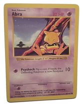 Pokemon Card - Abra - (43/102) 1999 WOTC SHADOWLESS BASE SET COMMON ***N... - $2.99