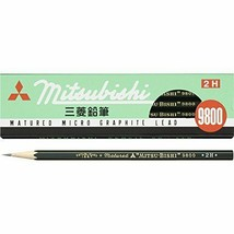 K98002H Mitsubishi pencil Office 9800 2H 12 pieces - $6.27