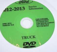2012 Ford TRUCK F-250 F350 F250 450 550 Service Shop Repair Manual ON CD... - $277.15