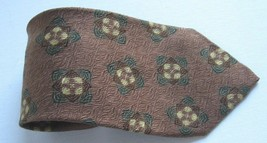Giorgio Armani Cravatte Pure Silk Tie Made in Italy Men's Brown Green Tan - $72.31
