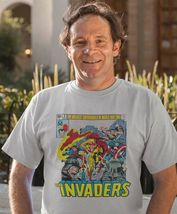 The Invaders T-Shirt Spit Fire Bucky Sub Mariner 1970s comic books graphic tee image 3
