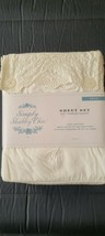 RACHEL ASHWELL SIMPLY SHABBY CHIC White Embroidered Woodrose Hem Twin Sh... - $212.85