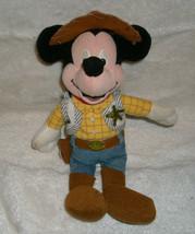 "8 "" Disney Store Sacchetto Imbottito Woody Topolino Peluche Toy Bambola - $21.87"