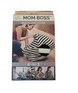 Itzy Ritzy Mom Boss Multi-Use Cover 4-in-1 Cart Nursing Black & White St... - $13.63