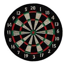 Dartboard Embroidered Patch Darts Iron-On Bullseye Pub Game Applique Emblem - $4.79