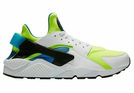 MEN'S NIKE AIR HUARACHE RUN SE SHOES white volt black blue AT4254 101 - $52.34