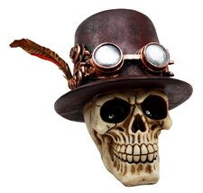 Atlantic Collectibles Steampunk Aristocrat with Royal Feather and Aviato... - $24.74
