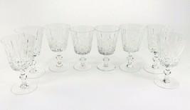 Vintage Set of 8 Crystal Brandy Glasses or Water Goblets Wine Drink Glas... - $59.98