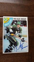 1978-79 TOPPS SIGNED AUTO CARD PER-OLAV BRASAR NORTH STARS CANUCKS SWEDE... - $21.77