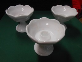 Vintage Indiana Glass...Set of 3 MILK GLASS Can... - $8.91