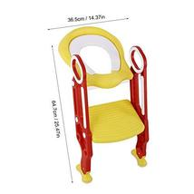 AYNEFY Potty Chair, Potty Training Seat Soft Toilet Chair Ladder Adjustable Safe image 2
