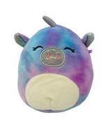 "Squishmallow Plush Lola The Tye Dye Unicorn Pig Kellytoy 5"" Soft Stuffed... - $8.50"