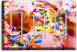 Pink Donuts Rainbow Sprinkles 3 Gfci Light Switch Wall Plates Room Kitchen Decor - $16.19