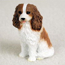 CAVALIER (brown white) TINY ONES DOG Figurine Statue Pet Lovers Gift Resin  - $8.99